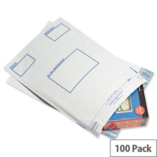 GoSecure Opaque Extra Strong C4 Polythene Protective Envelopes (Pack of 100)
