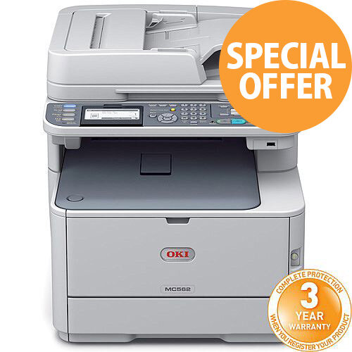 OKI MC562dnw Colour Multifunction Laser Printer Wireless Duplex