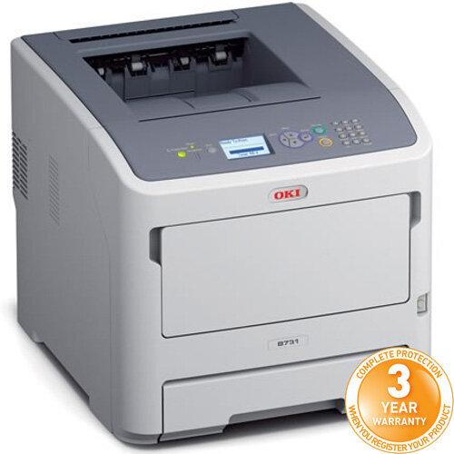 OKI B731DNW A4 Mono Laser Printer 256 MB Memory