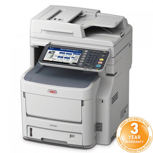 OKI MC760dnfax A4 Colour Multifunction LED Laser Printer Duplex Network Fax