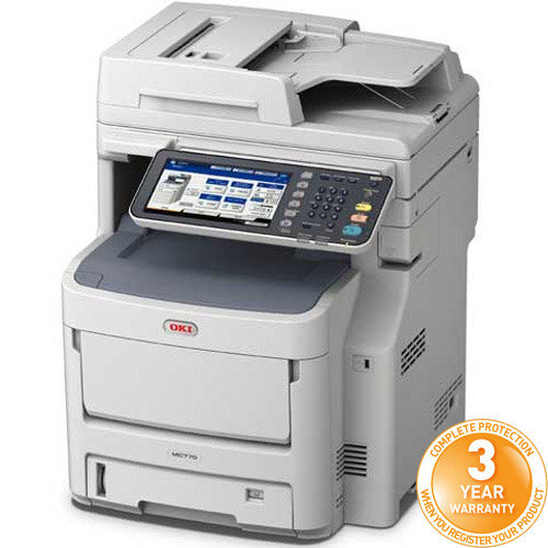 OKI MC770dnfax A4 Colour Multifunction LED Laser Printer 01334303