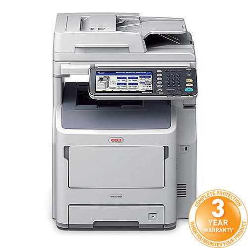 OKI MB760dnfax Mono Multifunction Laser Printer A4 Duplex Network Fax