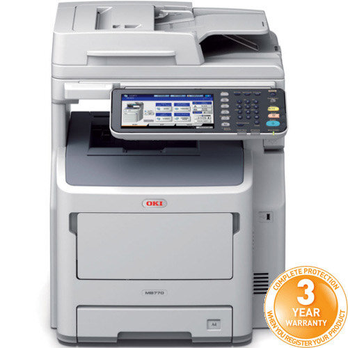 OKI MB770DN Multifunction Mono Laser Printer A4 Duplex Print Copy Scan and Fax