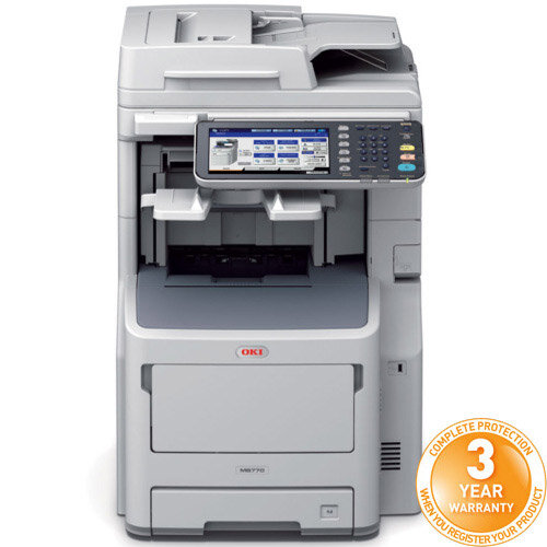 OKI MB770dfnfax Mono Multifunction Laser Printer A4 Duplex Network Fax Copy Scan