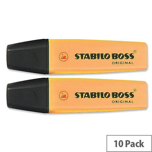 Stabilo Boss Highlighters Orange Pens Pack 10