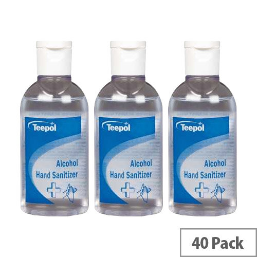 Teepol Alcohol Hand Sanitizer 50ml Case of 40