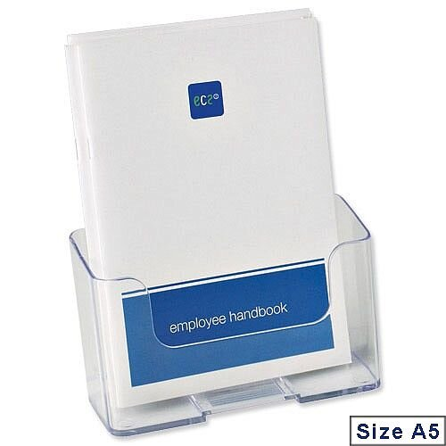 Deflecto A5 Leaflet &Brochure Holder Clear Rigid 74901