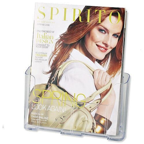 Standard Literature &Brochure Holder A4 Rigid Clear Deflecto