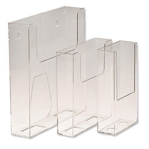 Deflecto Leaflet Holder Size DL 1/3 of A4 Portrait Clear Ref 76001