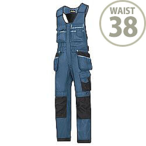 "Snickers 0212 Craftsmen One-piece Holster Pocket Trousers DuraTwill Size 104 38""/5'4"" Blue/Black"