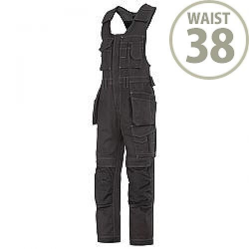"Snickers 0214 Craftsmen One-piece Holster Pocket Trousers Canvas+ Size 104 38""/5'4"" Black"