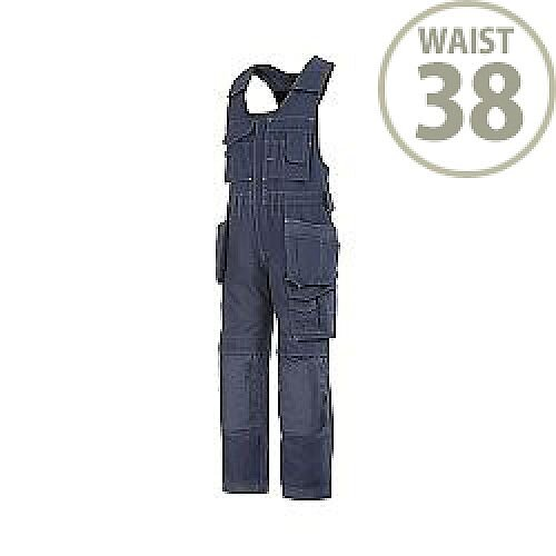 "Snickers 0214 Craftsmen One-piece Holster Pocket Trousers Canvas+ Size 104 38""/5'4"" Navy"