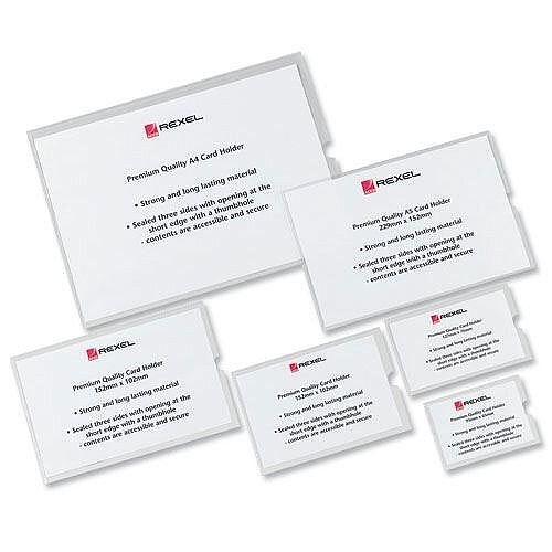 Rexel Card Holder 152x102mm Pack 25