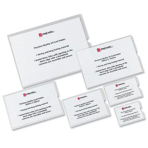 Rexel Card Holder A4 Pack 25