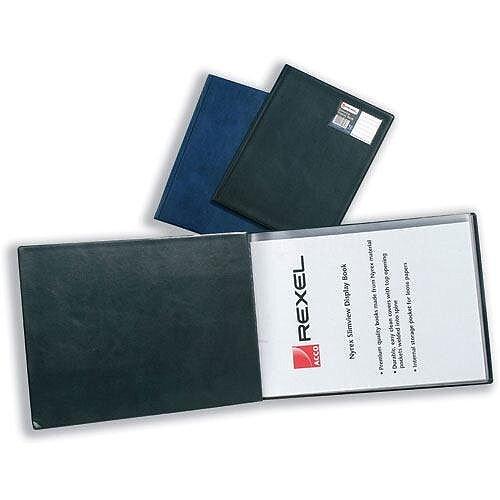 Rexel Nyrex A3 Display Book 24 Pockets Black 10060