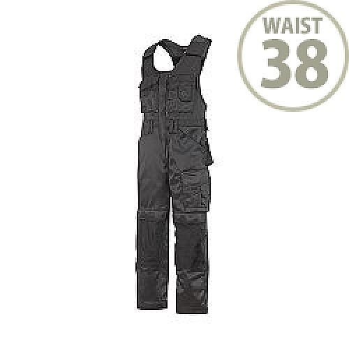 """Snickers 0312 Craftsmen One-piece Trousers DuraTwill Size 54 38""""/5'8"""" Black"""