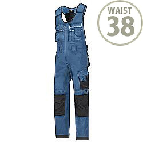 "Snickers 0312 Craftsmen One-piece Trousers DuraTwill Size 104 38""/5'4"" Blue/Black"