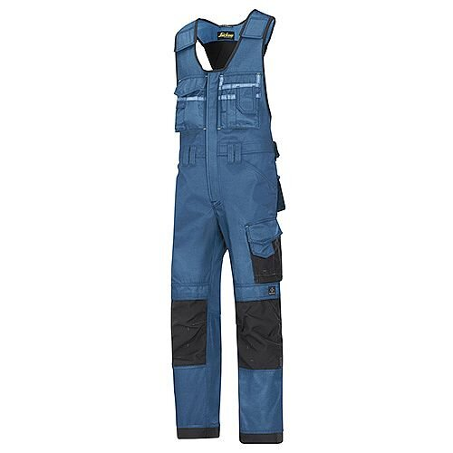 """Snickers 0312 Craftsmen One-piece Trousers DuraTwill Size 250 35""""/6'6"""" Blue/Black"""