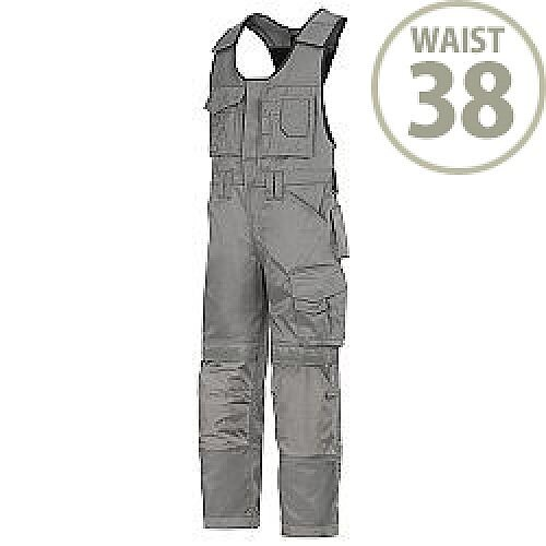"""Snickers 0312 Craftsmen One-piece Trousers DuraTwill Size 54 38""""/5'8"""" Grey"""