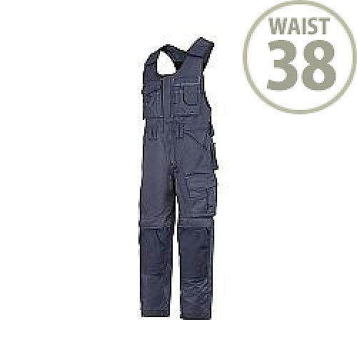 """Snickers 0312 Craftsmen One-piece Trousers DuraTwill Size 54 38""""/5'8"""" Navy"""