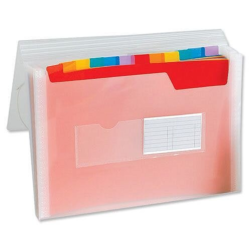 A4 Expanding File Coloured Plastic Europa File - 13 Pockets, (Elasticized) Expands To Suit Your Needs, Easily Retrieve Files With Divider Tabs &Made From Strong, Long Lasting Plastic To Protect Your Files. Ideal For Schools, Offices, Colleges &More.