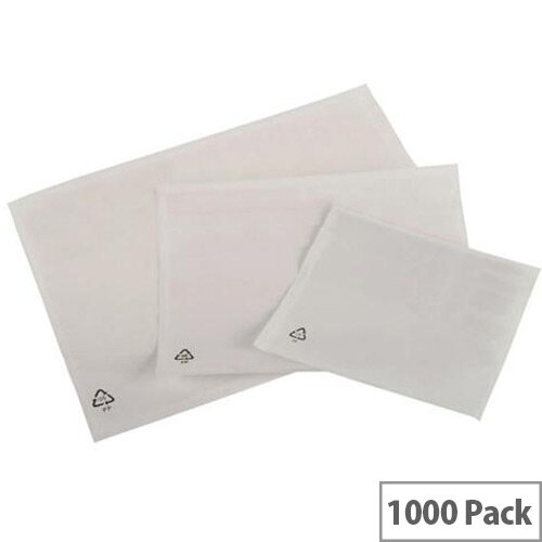 Packing List Envelopes Polythene A7 Plain Pack 1000