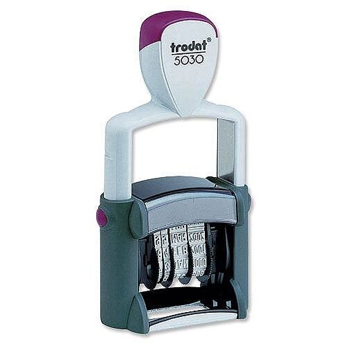 Trodat Professional 5030 Stamp Dater Metal Self Inking 24 x 4mm