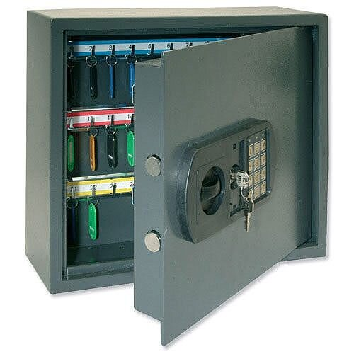 High Security Key Safe Cabinet with Electronic Key Pad and 30mm Double Bolt Locking 100 Keys