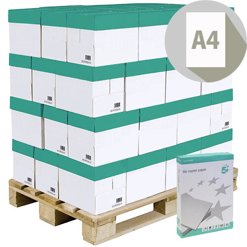 5 Star Lite Paper Ream-wrapped Pallet A4 White 200 x 500 Sheets