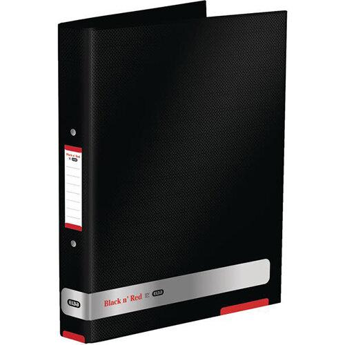 Black n Red by Elba A4 25mm Ring Binder Black - OFFER Buy One Get One FREE Jan - Dec 2019 Ref 400051510-XX3