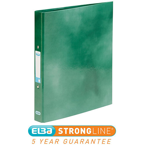 Elba Classy Ring Binder A4 2 O-Ring 25mm Laminated Metallic Green 400017756 [3 for 2] Jan-Dec 2019