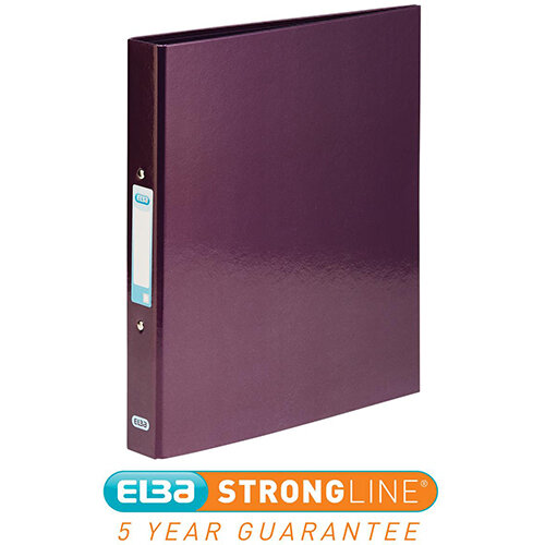 Elba Classy Ring Binder A4 2 O-Ring 25mm Laminated Metallic Purple 400017758 [3 for 2] Jan-Dec 2019