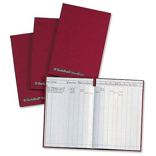 Guildhall Headliner Account Book 38 Series 6 Cash Column 38/6Z
