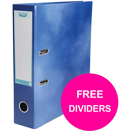 Elba Classy Lever Arch File 70mm Spine A4+ Blu Single Pack Ref 400021003 XX1220 (FREE Dividers) Jan 12/20