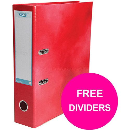 Elba Classy Lever Arch File 70mm Spine A4+ Red Single Pack Ref 400021004 XX1220 (FREE Dividers) Jan 12/20