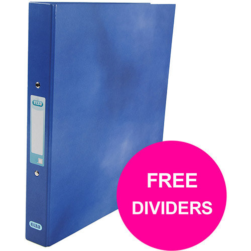 Elba Classy Ring Binder 25mm Cap A4+ Blue Ref 400017754 XX1220 (FREE Dividers) Jan 12/20