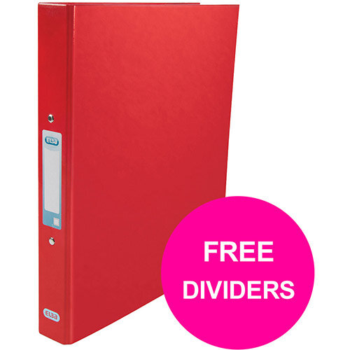Elba Classy Ring Binder 25mm Cap A4+ Red Ref 400017755 XX1220 (FREE Dividers) Jan 12/20)