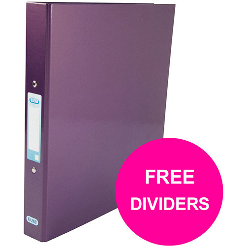 Elba Classy Ring Binder 25mm Cap A4+ Met Purp Ref 400017758 XX1220 (FREE Dividers) Jan 12/20