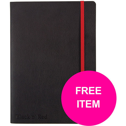 Black N Red Notebook Soft Notebook A5 Black Ref 400051204 (Buy 2 &Free BIC Ball Pen 4 Colours)Jan-Mar 20