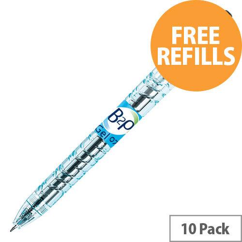 Pilot B2P Rollerball 0.7mm Black Ref 054101001 Pack of 10 (FREE Refills) Jan-Mar 2020