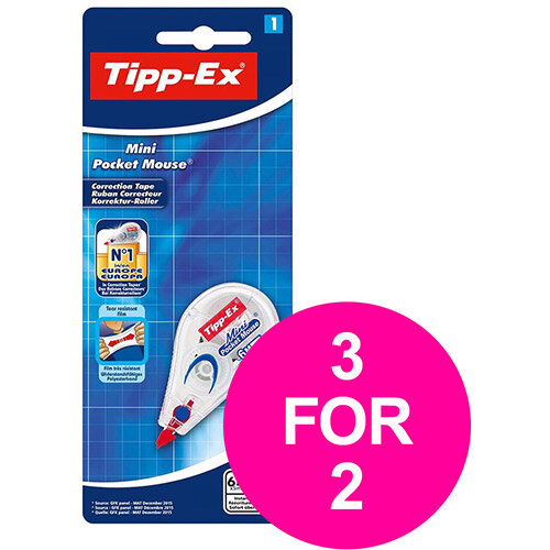 Tipp-Ex Mini Pocket Mouse 6mx5mm Ref 932564 Pack of 10 (3 for 2) Jan-Mar 2020
