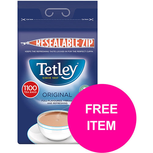 Tetley One Cup Teabags Tea Ref 1018K (Pack 1100) (Buy 2 Get Tetley Cold Infusions Starter Kit) Jan-Mar 20