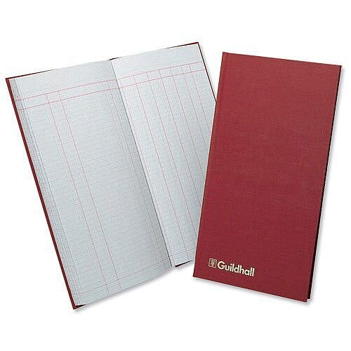 Guildhall Petty Cash Book Ruled 1 Debit 7 Credit 80 Pages 298x152mm Red T272
