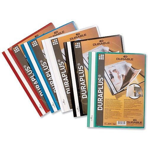 Durable Quotation Filing Folder Duraplus PVC A4 Assorted Box 25