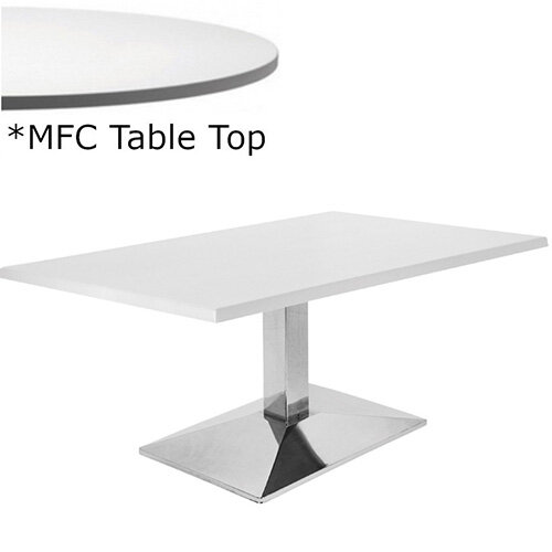 Frovi WEDGE Rectangular Coffee Table With Chrome Base &MFC Top W1000xD600xH420mm - Minimalist Design MFC Melamine Surface