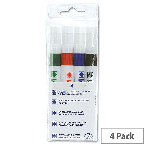 5 Star Value Strategy SL Dry Wipe Markers Assorted Pack 4