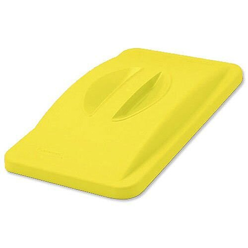 Rubbermaid Slim Jim Handle Top Lid for General Recycling System Yellow 2688-88-YEL