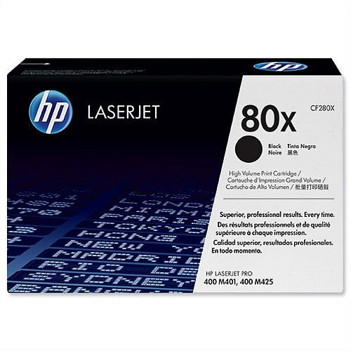HP 80X Black High Yield Laser Toner CF280X 100159