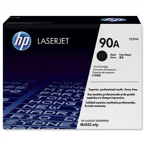 HP 90A Black Laser Toner Cartridge CE390A