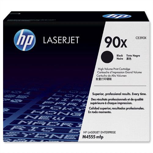 HP 90X Black High Yield Laser Toner Cartridge CE390X